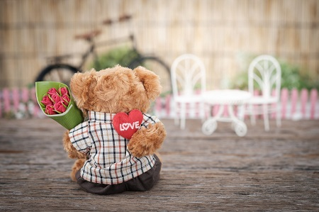 Valentines Day Teddy Bear small