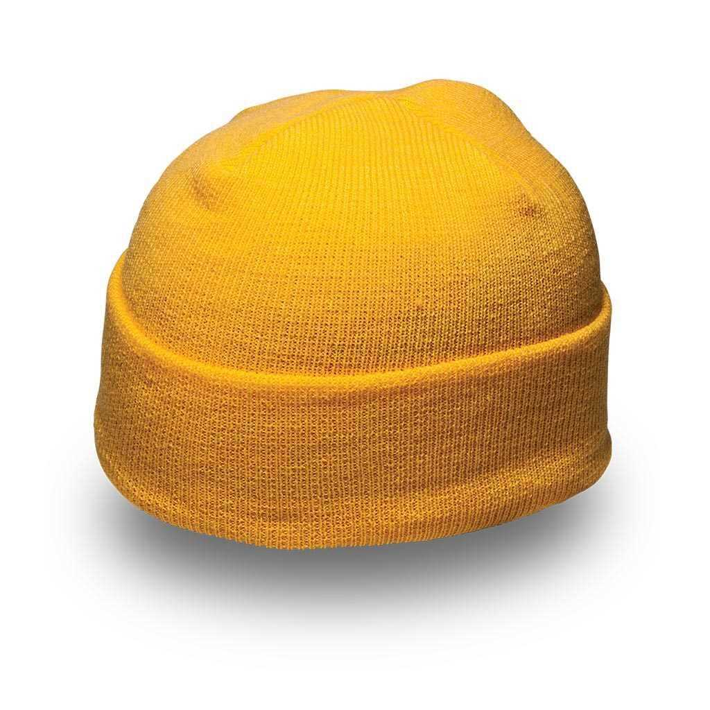 Cuffed Knitted Beanie yellow