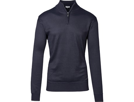 Mens 1:4 Zip Waverley Jersey Navy